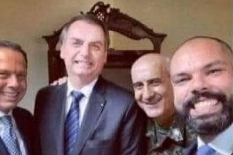 Apoiadores de Boulos resgatam selfie de Covas ao lado de Doria e Bolsonaro