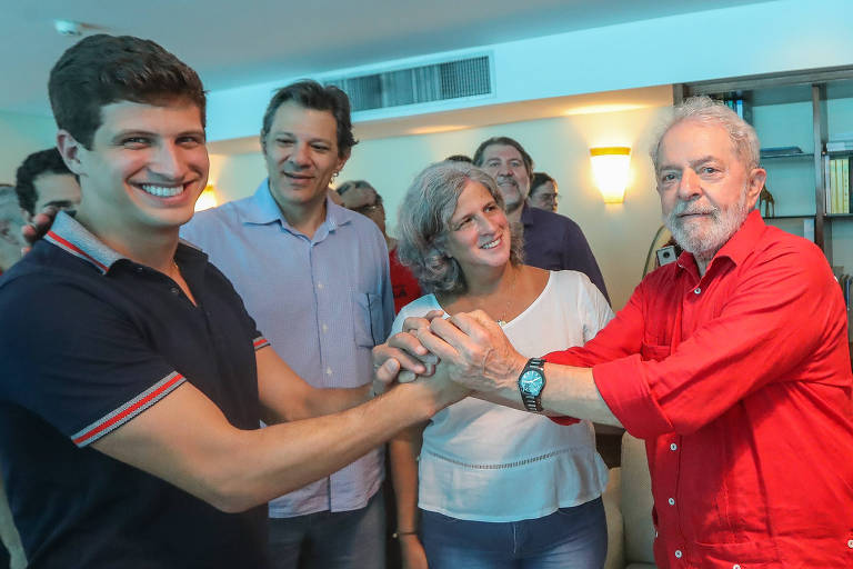 Encontro de Lula com João Campos e Renata Campos no Recife, em novembro de 2019