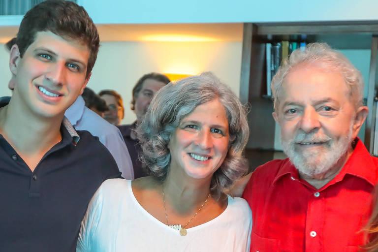 João Campos, Renata Campos e Lula em encontro no Recife, em novembro de 2019