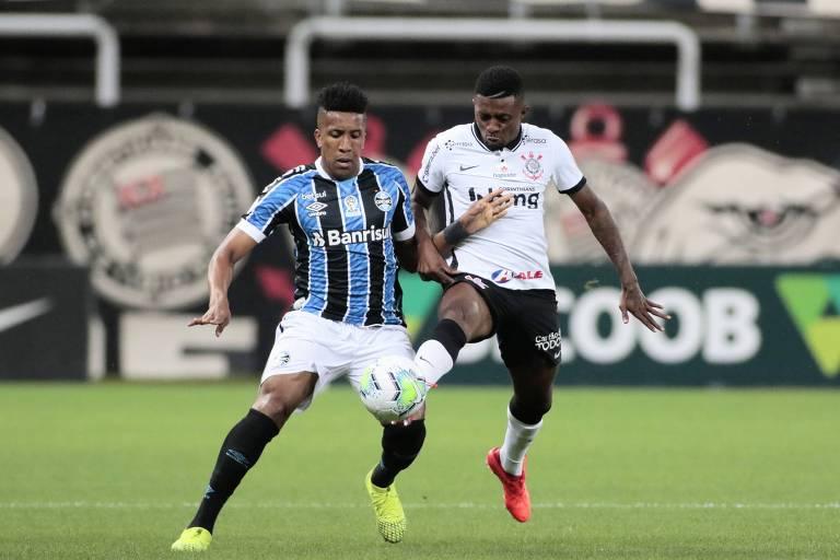 O Corinthians segurou o empate contra o Grêmio em Itaquera
