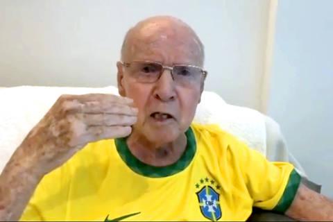 Zagallo em vídeo de apresentação da sua conta no Instagram. Mário Jorge Lobo Zagallo ex-jogador e ex-tecnico da selecao brasileira de futebol posta conteudo em sua rede social aos 89 anos. Credito:zagallooficial  no Instagram