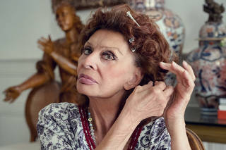 An image provided by Edoardo Ponti, Sophia Loren at her home in Geneva, Switzerland. (Edoardo Ponti via The New York Times)