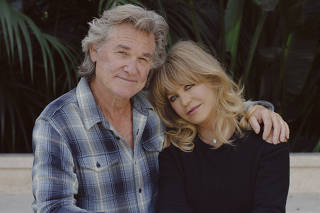 Goldie Hawn and Kurt Russell in Los Angeles, Nov. 9, 2020. (Ryan Pfluger/The New York Times)