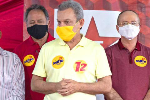 FORTALEZA, CE, 17-11-20202  -  O candidato do PDT à Prefeitura de Fortaleza (CE), José Sarto, contará com o apoio do Partido dos Trabalhadores durante o segundo turno das eleições municipais. O anúncio, oficializado em coletiva de imprensa na sede do PT Ceará, ocorreu na tarde desta terça-feira (17). Foto: PT Ceara no Facebook ORG XMIT: MnDinVbB7i4RfnQPlumj