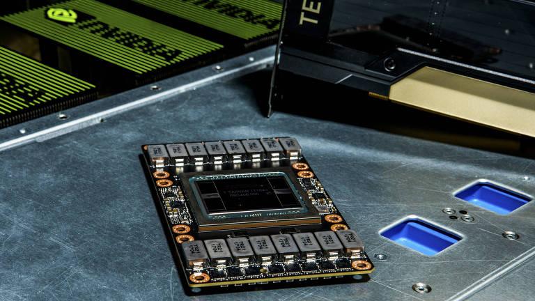 Imagem de um chip de computador
