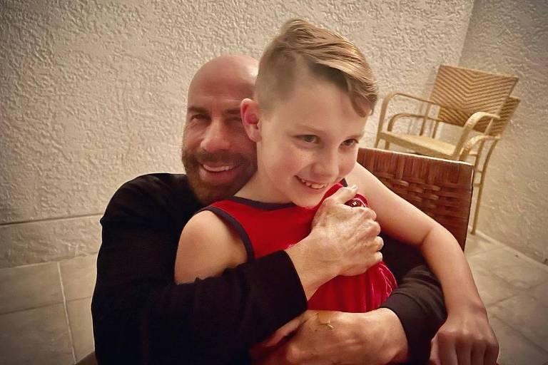John Travolt e o filho