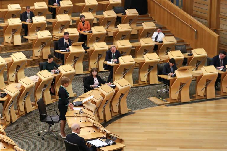 Plenário do Parlamento escocês, em Edimburgo