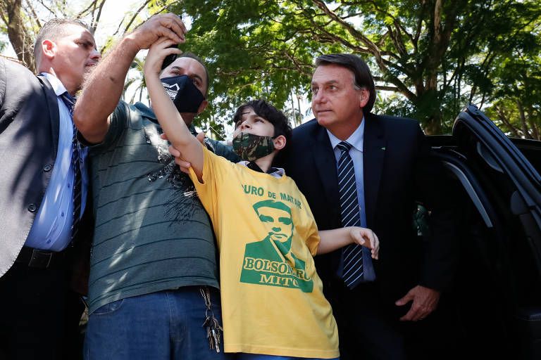 O presidente Jair Bolsonaro durante o encontro com investidores