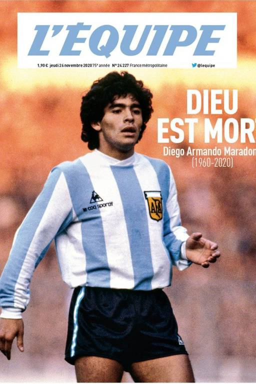 Imprensa internacional repercute morte de Maradona