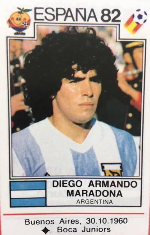Maradona eternizado nos álbuns de figurinhas