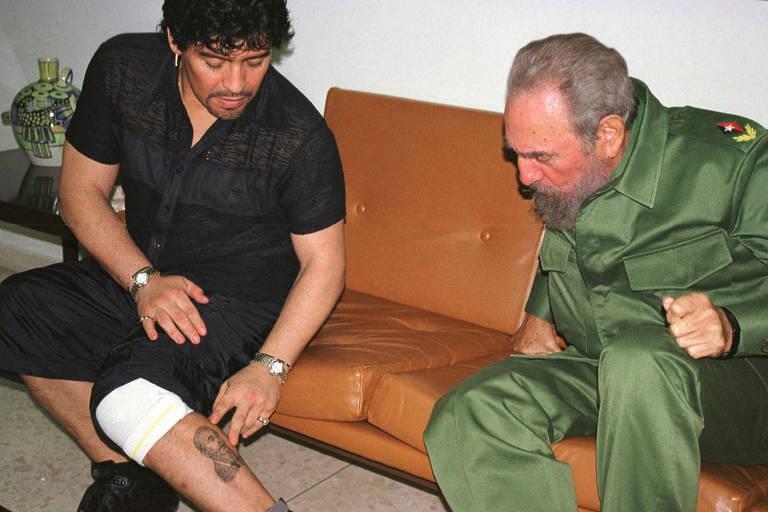 Ícone da esquerda, Maradona não escondia orientação política