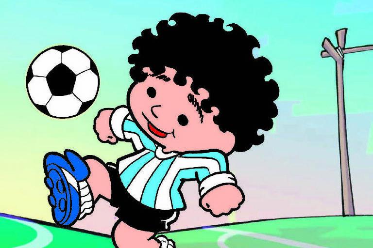 Mauricio de Sousa compartilha homenagem a Diego Maradona