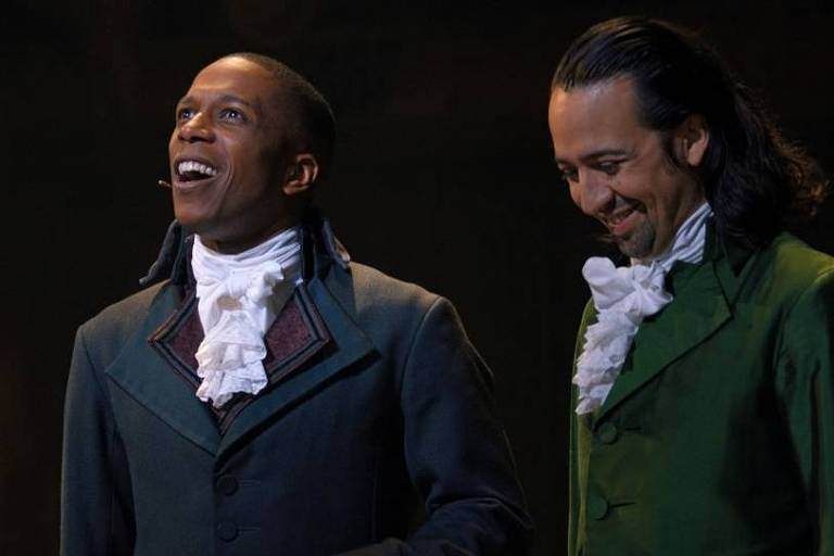 'Hamilton' arrebata mesmo com negros no papel de escravocratas