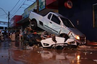 Estragos causados pela chuva em São Carlos