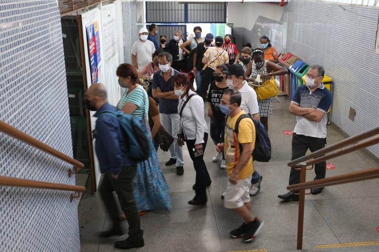 Movimentação da votação do segundo turno, na Escola Estadual Maria Jose, no Bela Vista, região central de São Paulo