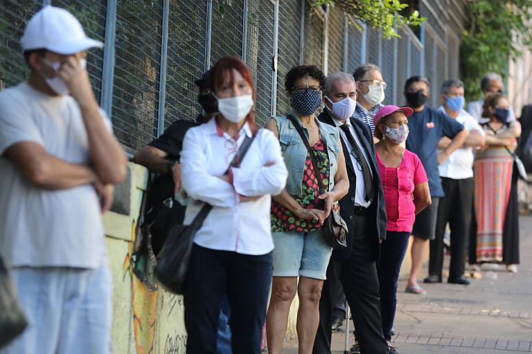Votação na Escola Estadual Maria José, na Bela Vista