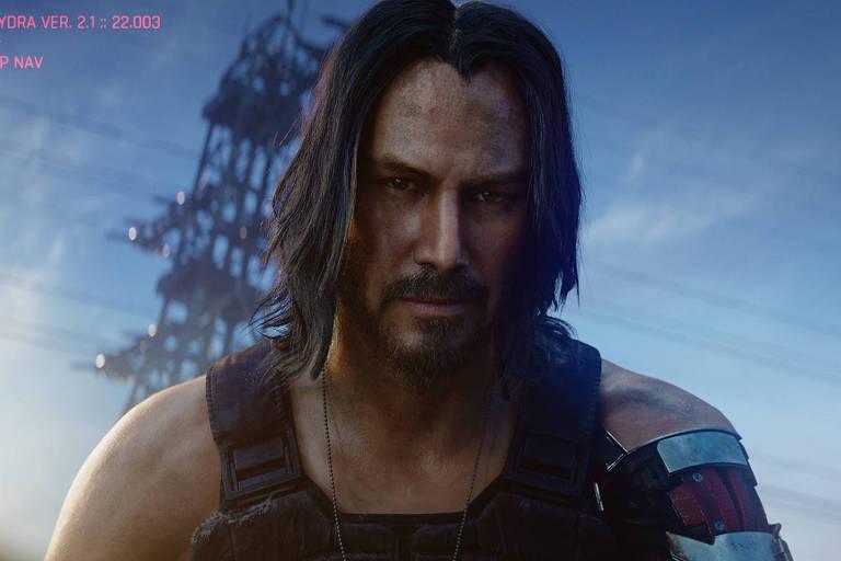 Keanu Reeves é Johnny Silverhand em 'Cyberpunk 2077'