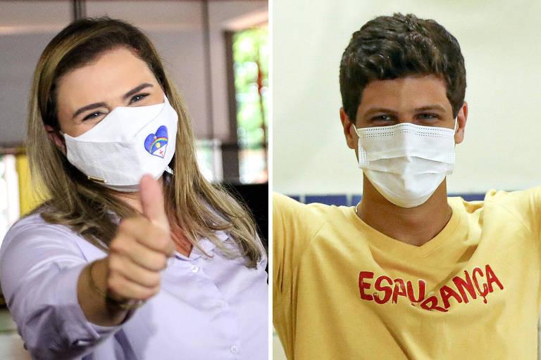 Marília Arraes (PT) e João Campos (PSB), eleito prefeito do Recife, votam no segundo turno
