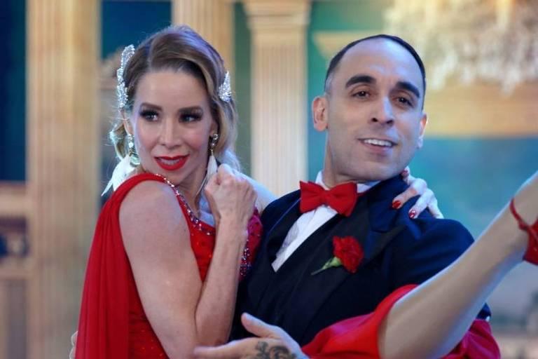 Danielle Winits e Fernando ocupam a liderança do Dança dos Famosos