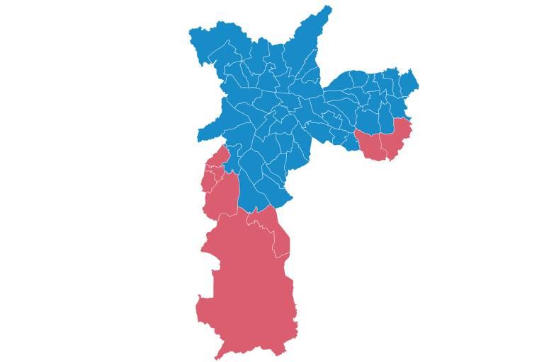 Covas vence em 50 das 58 zonas eleitorais de SP; Boulos ganha nos extremos das zonas sul e leste