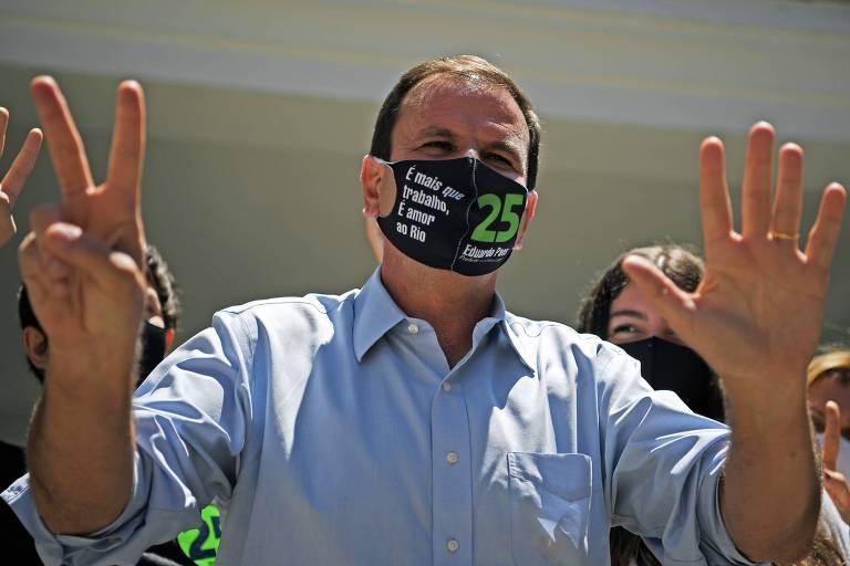 Eduardo Paes, após votar no Rio de Janeiro