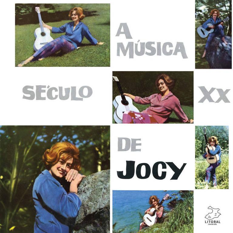 colagem de várias fotos da cantora jocy em capa de disco