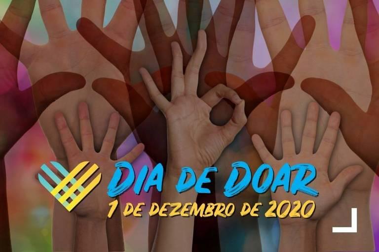 Em 2020, Dia de Doar ocorre em 1º de dezembro