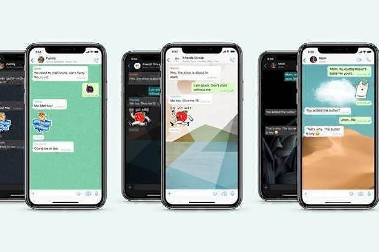 Ilustração dos papéis de parede do WhatsApp