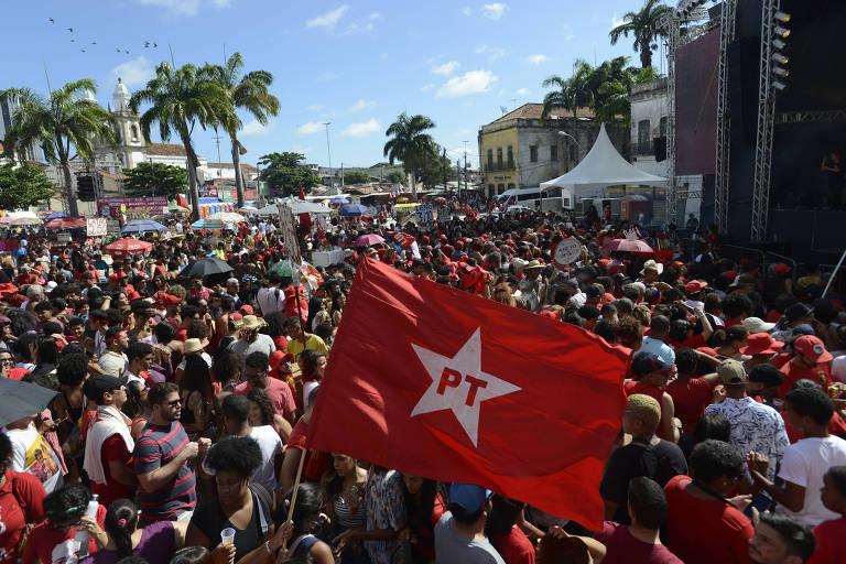Apoiadores do PT no Festival Lula Live no Recife, em 2019
