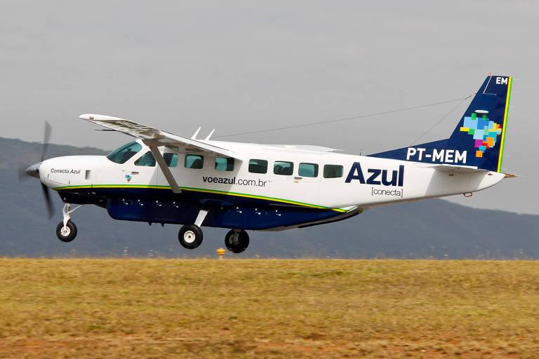 Aeronave Cessna da Azul Conecta, empresa para operações sub-regionais da Azul