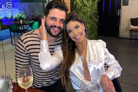 Ivy Moraes e o ex-marido  Rogério Fernandes