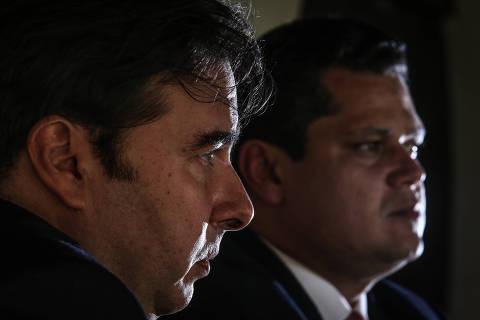 BRASÍLIA, DF, 06.06.2019:  Entrevista com Rodrigo Maia, Presidente da Câmara dos Deputados e Davi Alcolumbre, Presidente do Senado. **EXCLUSIVO**   (Foto: ANDRE COELHO/Folhapress)