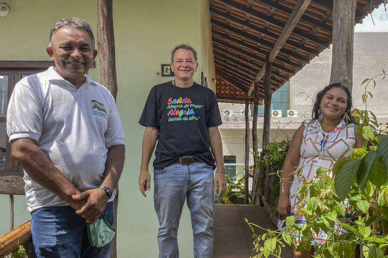 Auricélia Fonseca, Caetano Scannavino e Edivaldo Matos, que juntamente com Eugenio Scannavino e Alessandra Munduruku, atuaram juntos na campanha Com Saúde & Alegria Sem Corona, finalista da categoria Ajuda Humanitária
