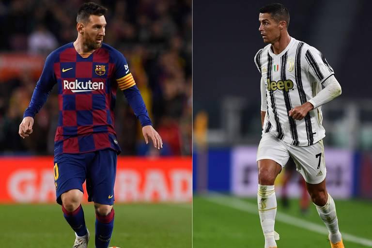 Reis da Champions, Messi e Cristiano Ronaldo se reencontram após 2 anos