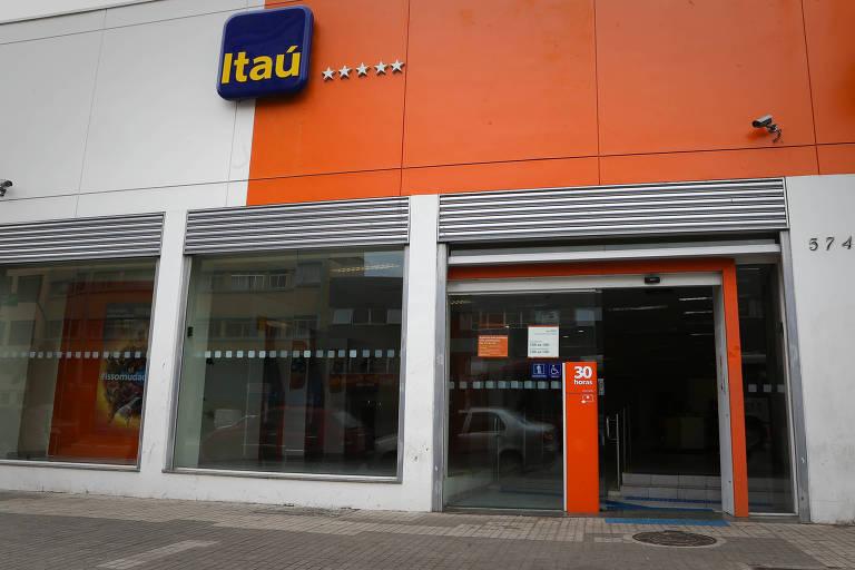 Fachada da agência do Itaú
