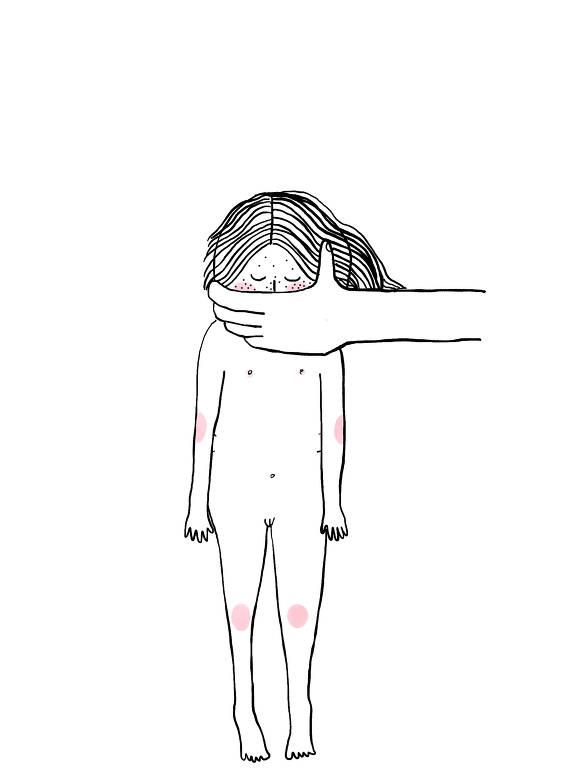 Confira ilustrações da Luiza Pannunzio sobre exploração sexual infantil