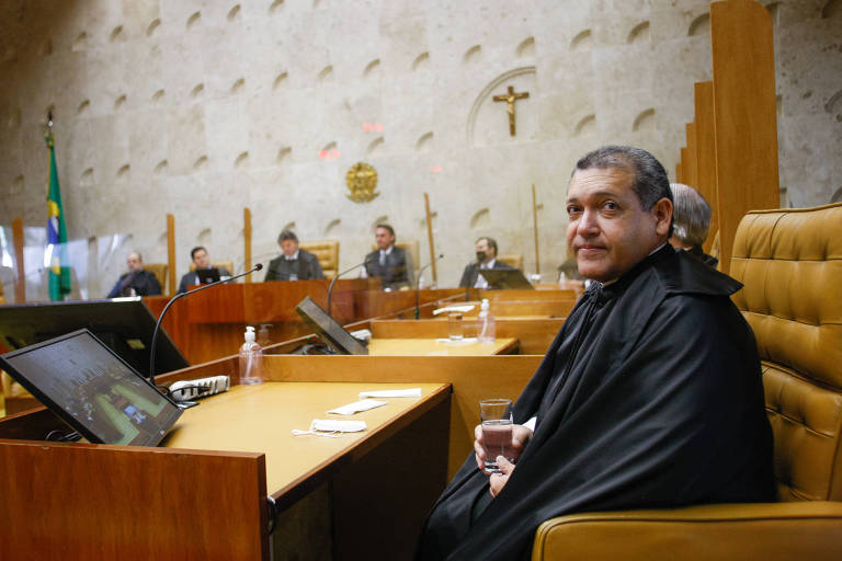 O ministro do STF Kassio Nunes Marques em sua posse como ministro
