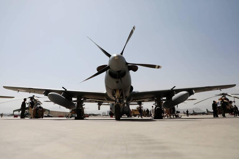 Modelo A-29 Super Tucano; avião da Embraer é usado por 15 forças aéreas no mundo, incluindo a FAB