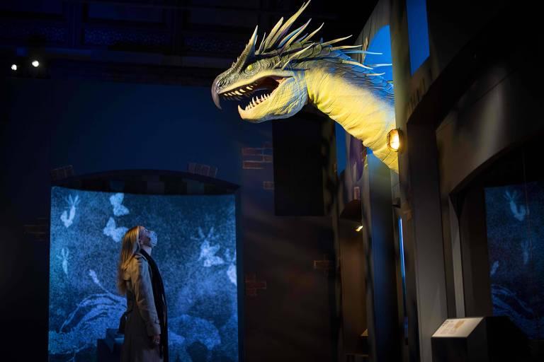 """Exposição em Londres investiga origem das lendas dos dragões que aparecem na saga """"Harry Potter"""""""