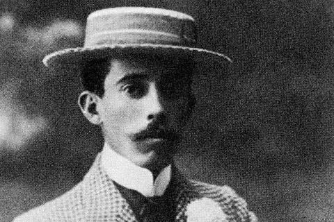 O inventor Alberto Santos Dumont. [FSP-Ilustrada-26.09.98]*** NÃO UTILIZAR SEM ANTES CHECAR CRÉDITO E LEGENDA***