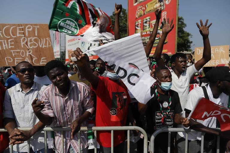 Resultado das eleições em Gana