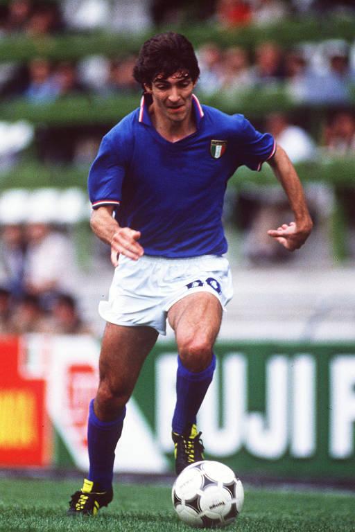 Paolo Rossi na Copa do Mundo da Espanha-1982