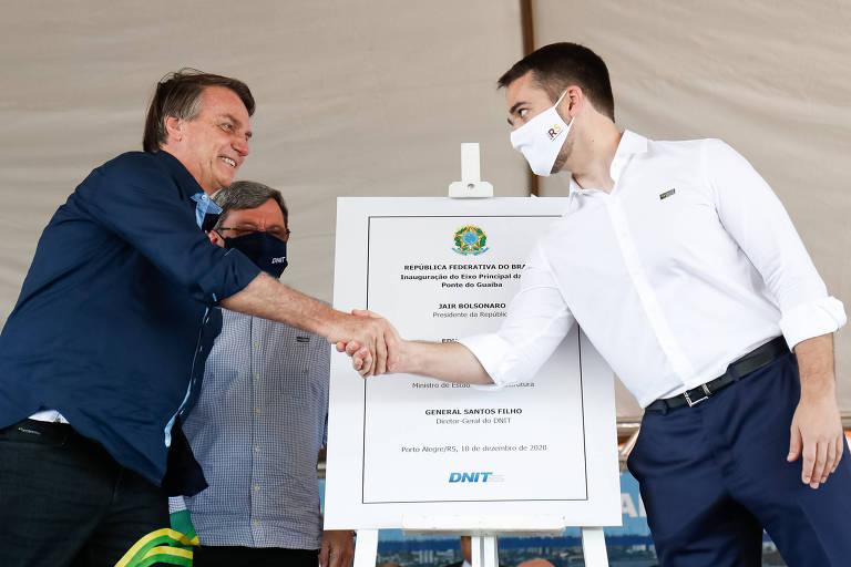 Bolsonaro visita Porto Alegre e inaugura ponte com Eduardo Leite