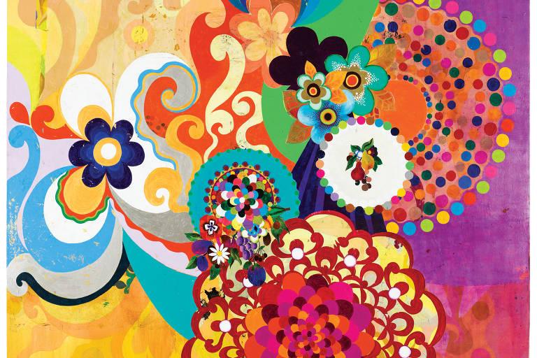 Beatriz Milhazes revê pinturas em exposição no Masp