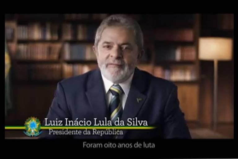 23.dez.2010. Último pronunciamento oficial de Luiz Inácio Lula da Silva (PT) como presidente da República, exibido em cadeia nacional de TV em 23 de dezembro de 2010.