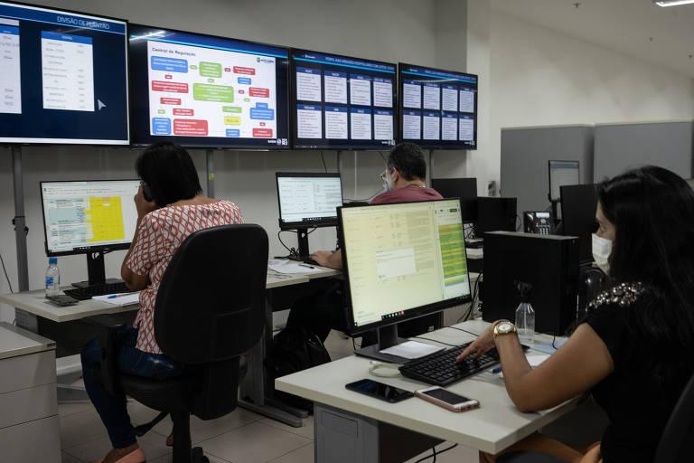 Central de Regulação de Leitos do Rio de Janeiro, onde é definido quem tem direito a leito para tratar Covid