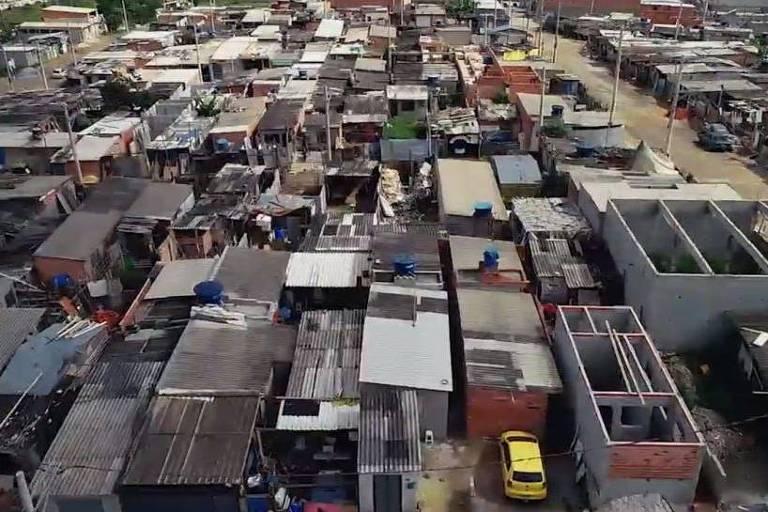 Vista aérea do Jardim Grajaú, na periferia de São Paulo
