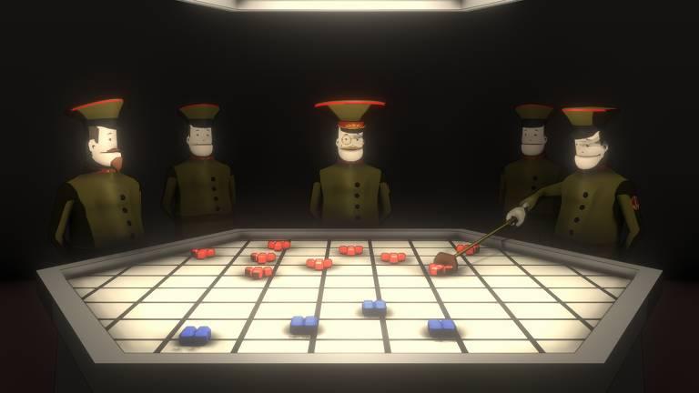 Jogo 'Kosmokrats', que brinca com as origens soviéticas do clássico 'Tetris'