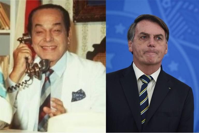 Montagem com Odorico Paraguaçu e Jair Bolsonaro