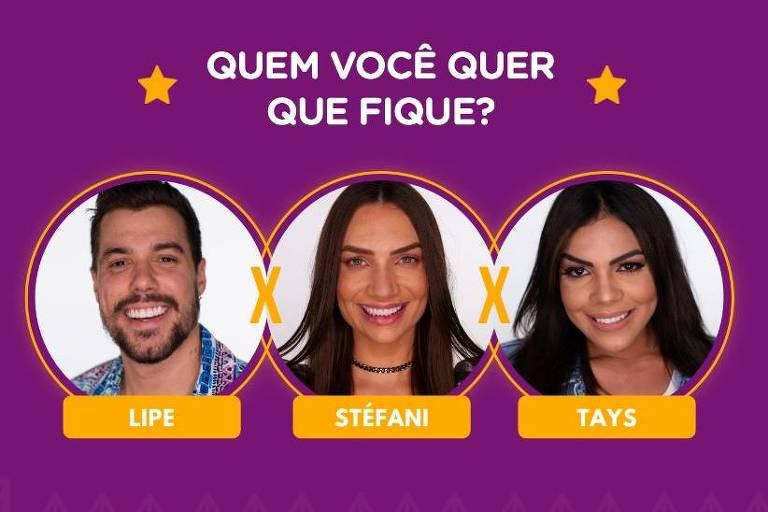 A Fazenda 12: Lipe Ribeiro, Stéfani Bays e Tays Reis estão na roça; vote na enquete